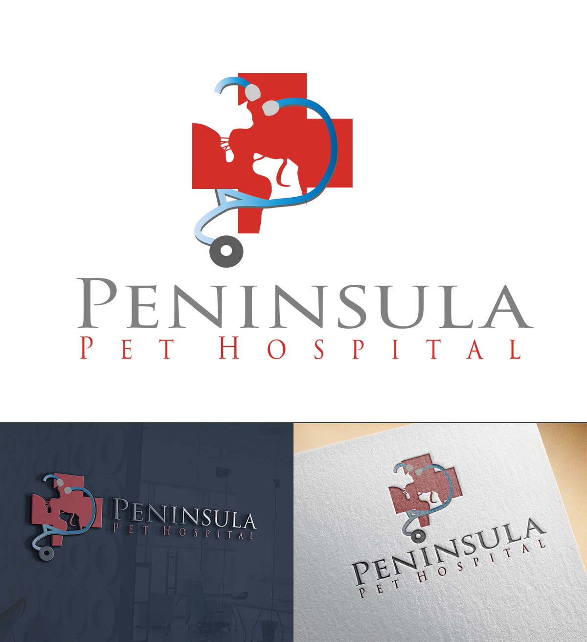 Logo Design by Wilfred Ponseca - Entry No. 175 in the Logo Design Contest Creative Logo Design for Peninsula Pet Hospital.