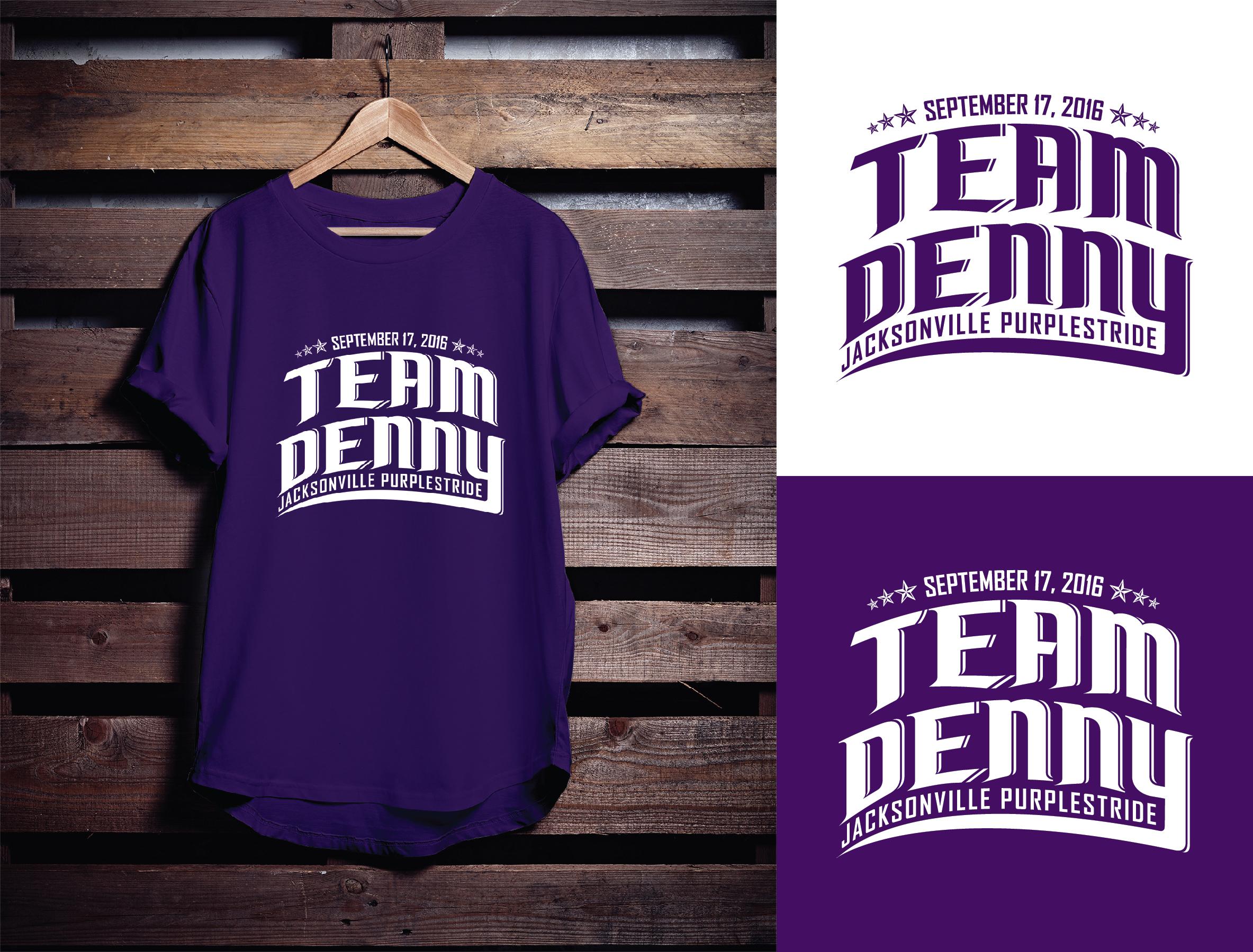Logo Design by Shahab Uddin - Entry No. 22 in the Logo Design Contest  Logo Design for Team Denny front t shirt.