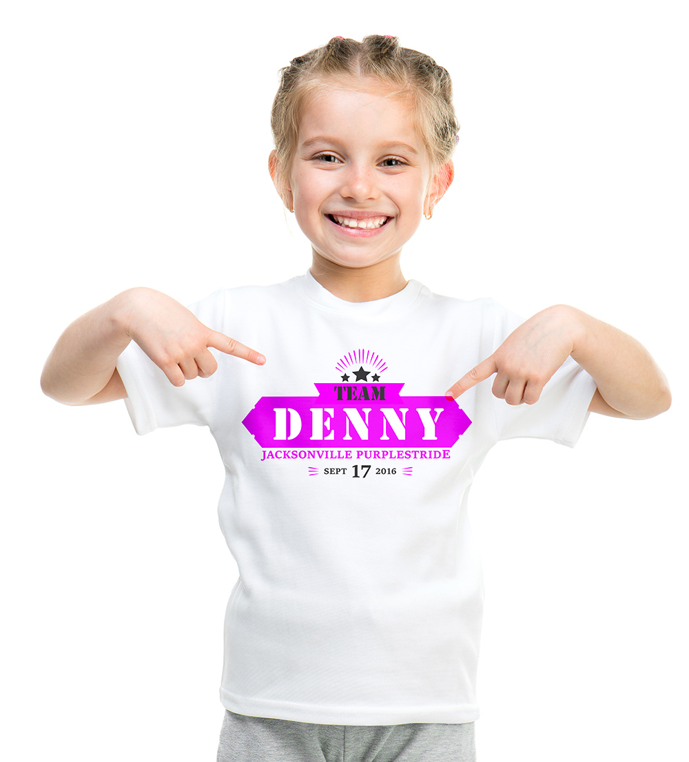 Logo Design by Juwo Kamoti - Entry No. 24 in the Logo Design Contest  Logo Design for Team Denny front t shirt.