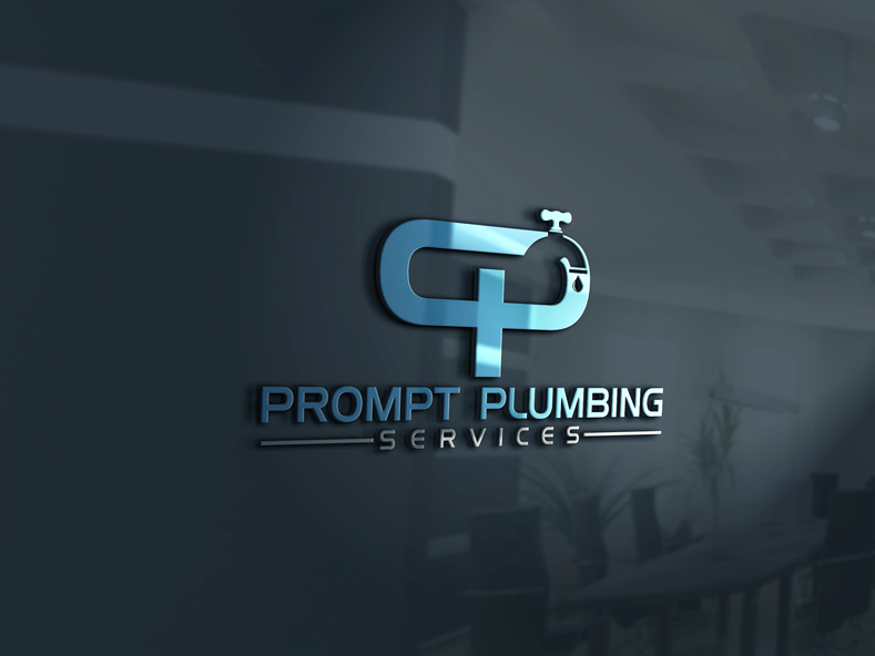 Logo Design by Private User - Entry No. 8 in the Logo Design Contest Artistic Logo Design for Prompt Plumbing Services.