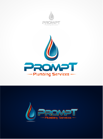 Logo Design by Raymond Garcia - Entry No. 12 in the Logo Design Contest Artistic Logo Design for Prompt Plumbing Services.