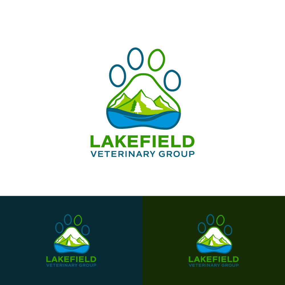 Logo Design by Tauhid Shaikh - Entry No. 61 in the Logo Design Contest Inspiring Logo Design for Lakefield Veterinary Group.