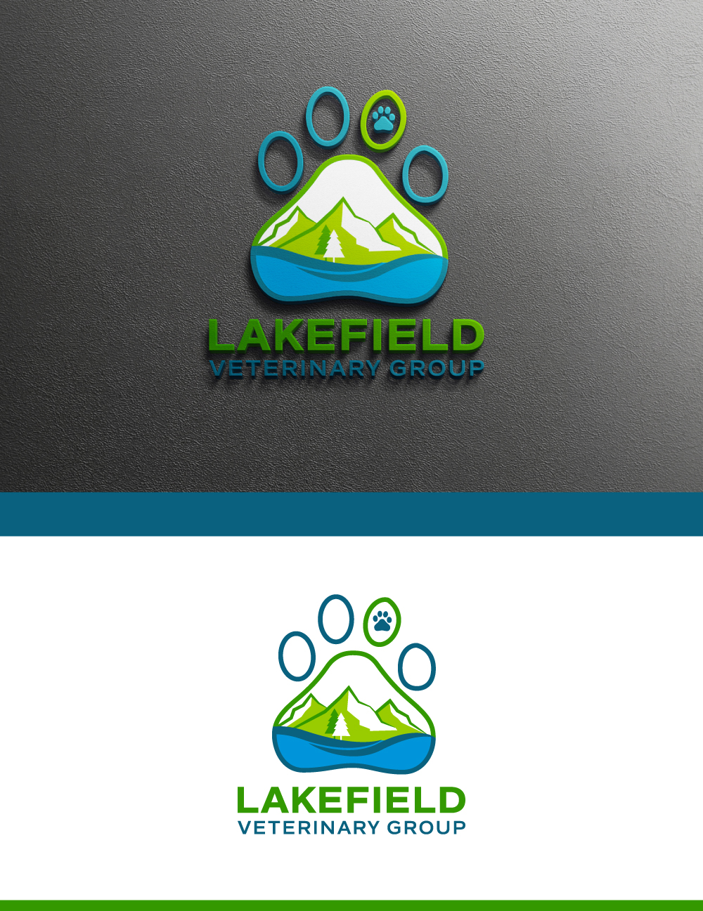 Logo Design by Tauhid Shaikh - Entry No. 62 in the Logo Design Contest Inspiring Logo Design for Lakefield Veterinary Group.
