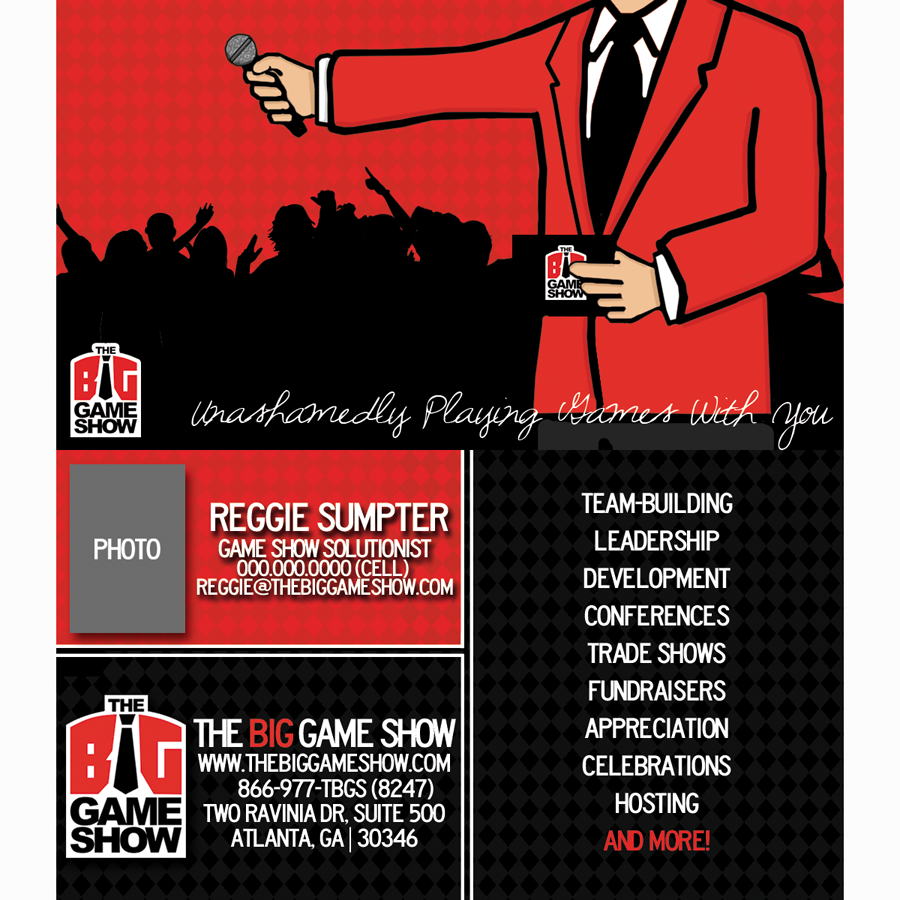 Business Card Design by bambino - Entry No. 25 in the Business Card Design Contest The Big Game Show business cards.