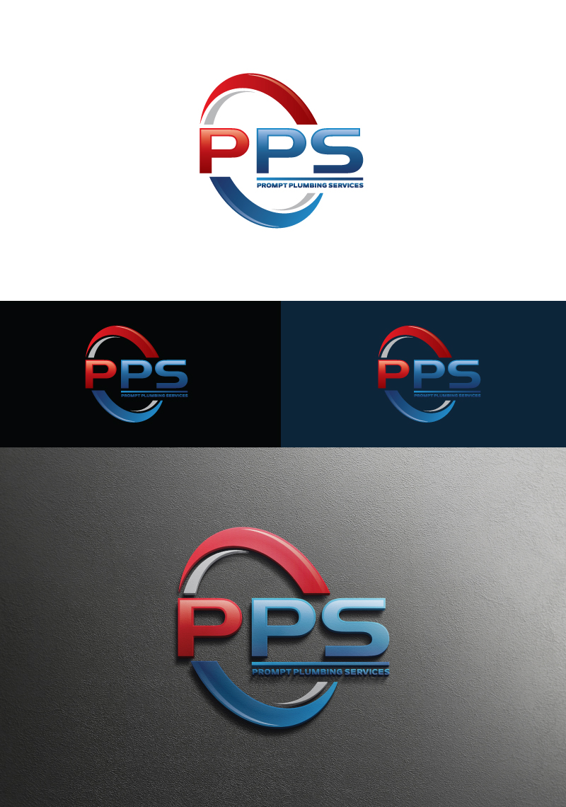 Logo Design by Tauhid Shaikh - Entry No. 16 in the Logo Design Contest Artistic Logo Design for Prompt Plumbing Services.