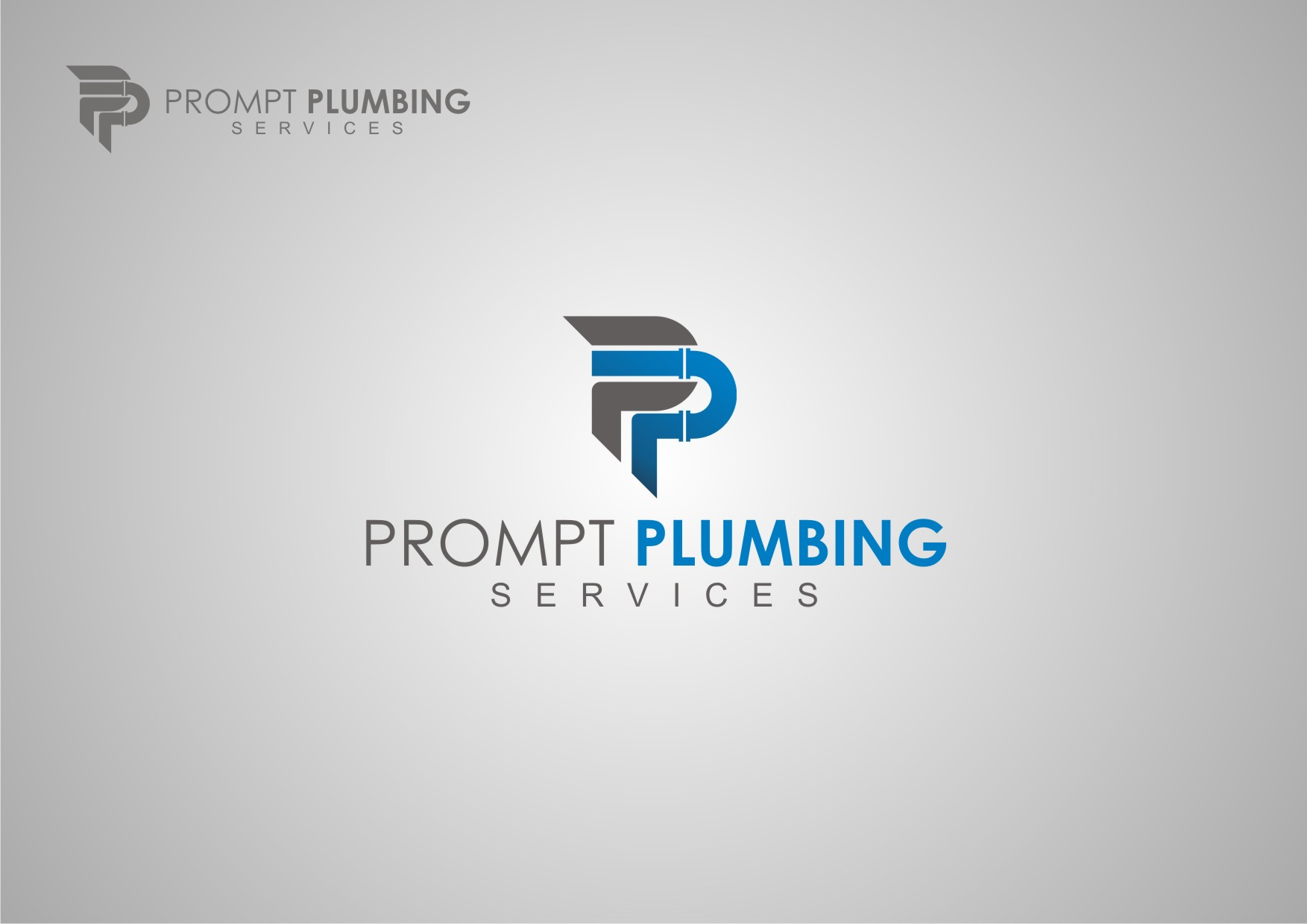 Logo Design by Private User - Entry No. 18 in the Logo Design Contest Artistic Logo Design for Prompt Plumbing Services.