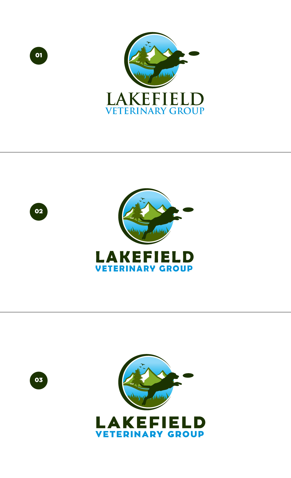 Logo Design by Tauhid Shaikh - Entry No. 69 in the Logo Design Contest Inspiring Logo Design for Lakefield Veterinary Group.