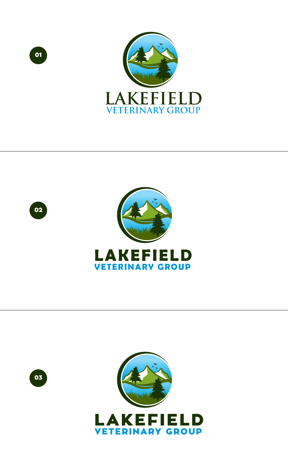 Logo Design by Tauhid Shaikh - Entry No. 71 in the Logo Design Contest Inspiring Logo Design for Lakefield Veterinary Group.