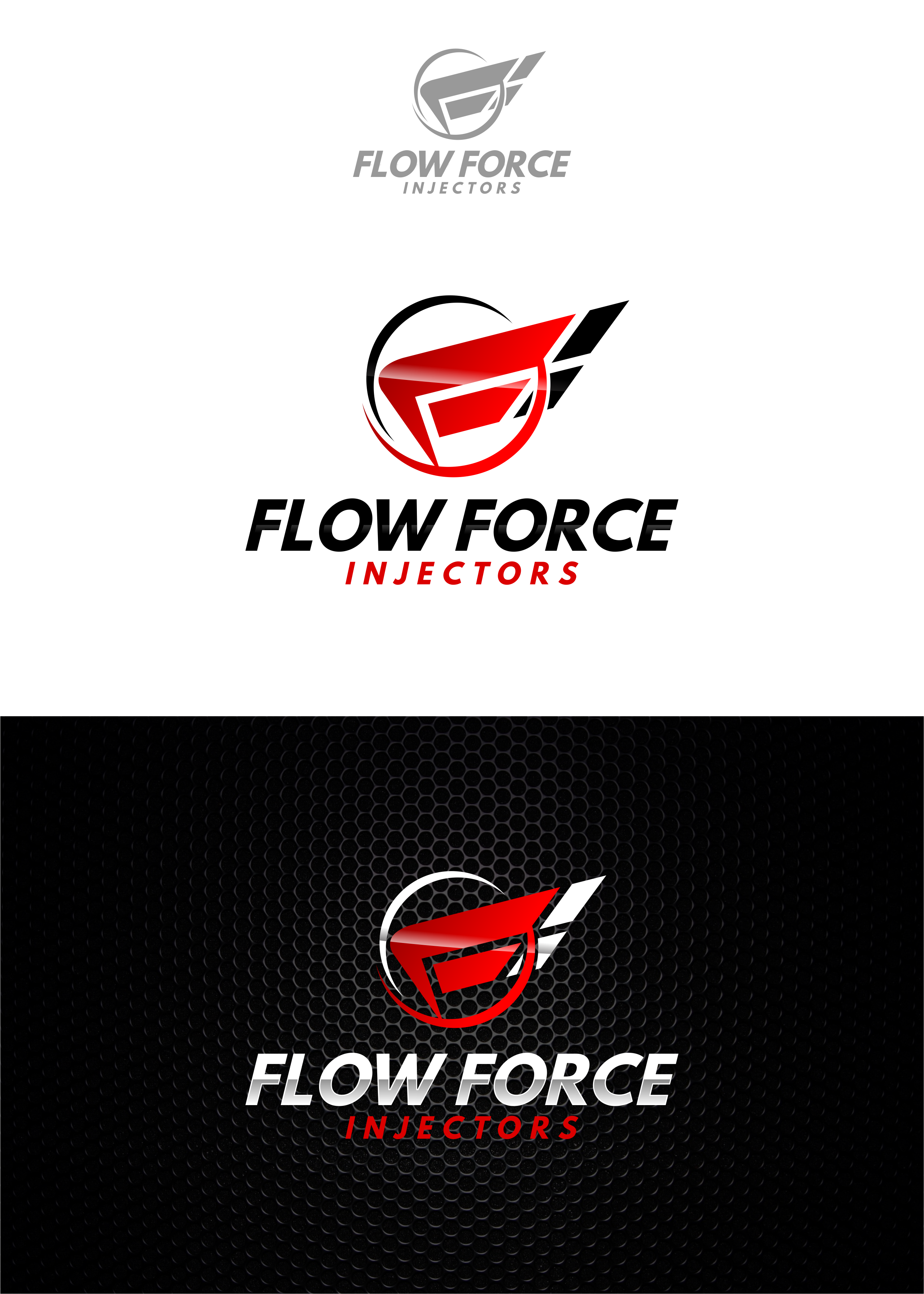 Logo Design by Raymond Garcia - Entry No. 12 in the Logo Design Contest Fun Logo Design for Flow Force Injectors.
