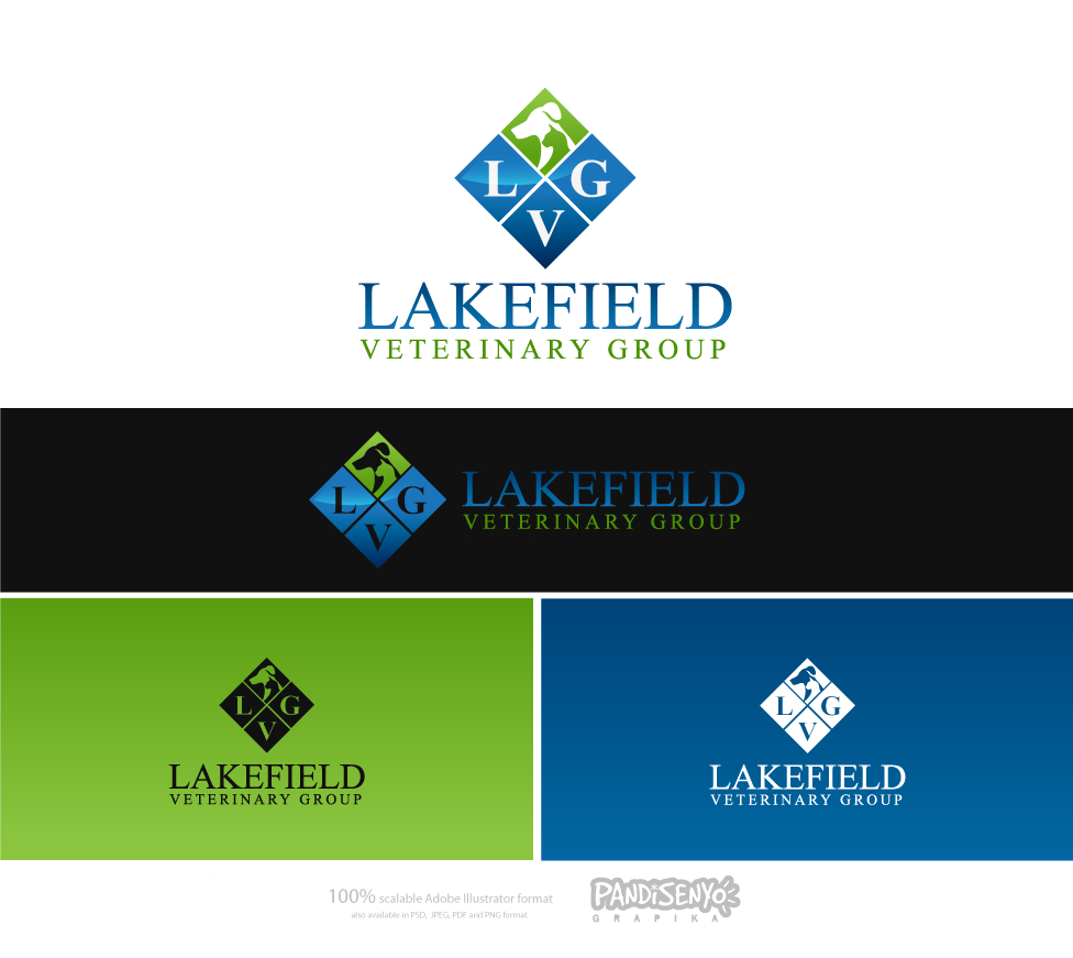 Logo Design by pandisenyo - Entry No. 75 in the Logo Design Contest Inspiring Logo Design for Lakefield Veterinary Group.