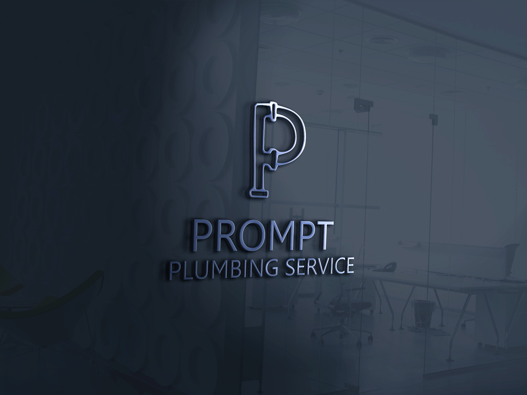 Logo Design by AQIB SHAIKH - Entry No. 22 in the Logo Design Contest Artistic Logo Design for Prompt Plumbing Services.