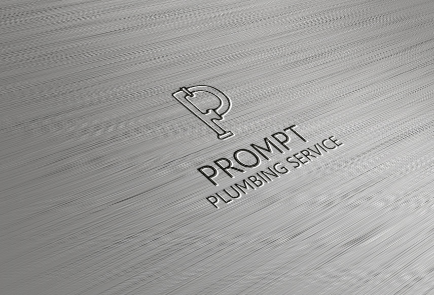Logo Design by AQIB SHAIKH - Entry No. 23 in the Logo Design Contest Artistic Logo Design for Prompt Plumbing Services.