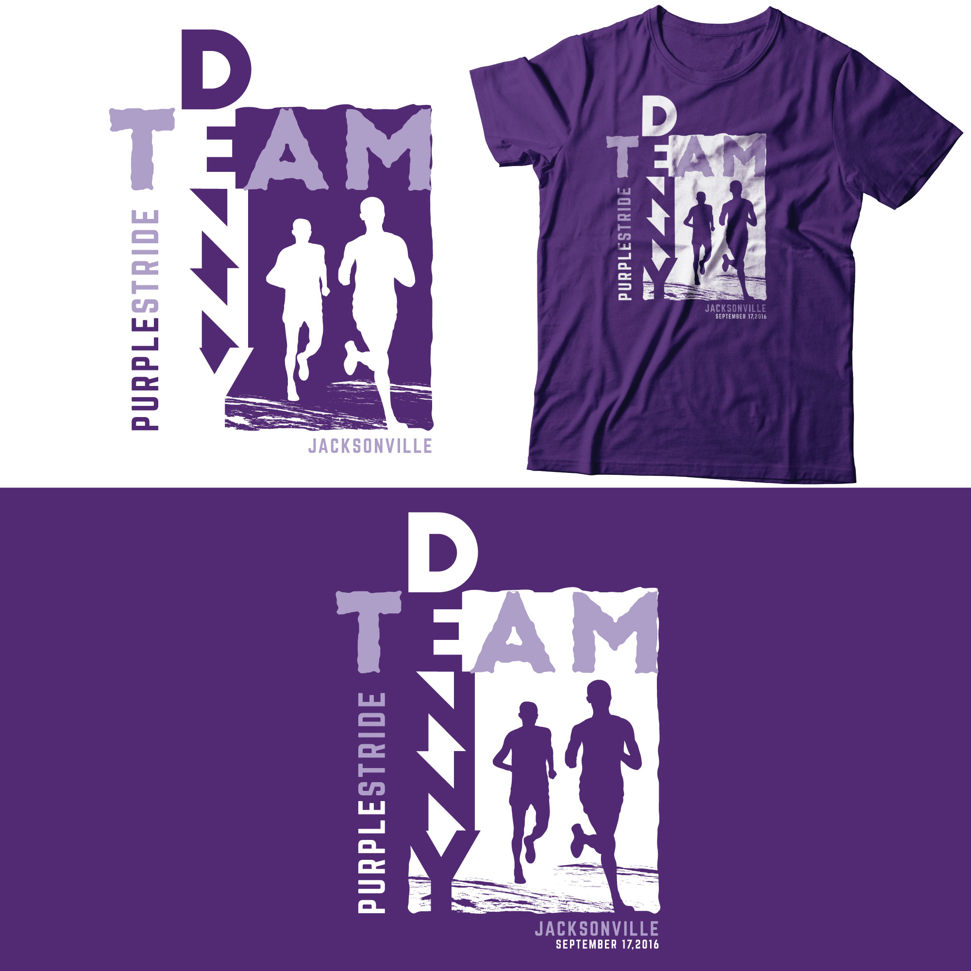 Logo Design by Roza Apostolska - Entry No. 29 in the Logo Design Contest  Logo Design for Team Denny front t shirt.