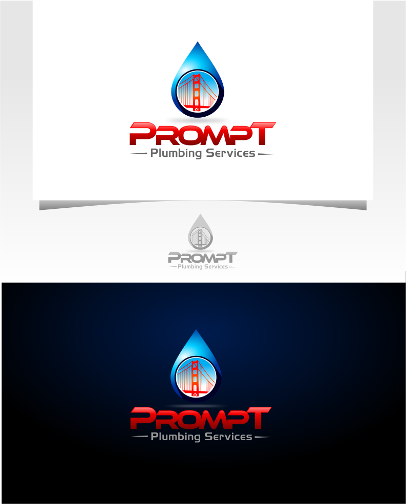 Logo Design by Raymond Garcia - Entry No. 25 in the Logo Design Contest Artistic Logo Design for Prompt Plumbing Services.