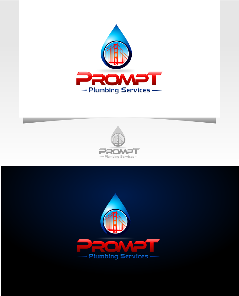 Logo Design by Raymond Garcia - Entry No. 26 in the Logo Design Contest Artistic Logo Design for Prompt Plumbing Services.