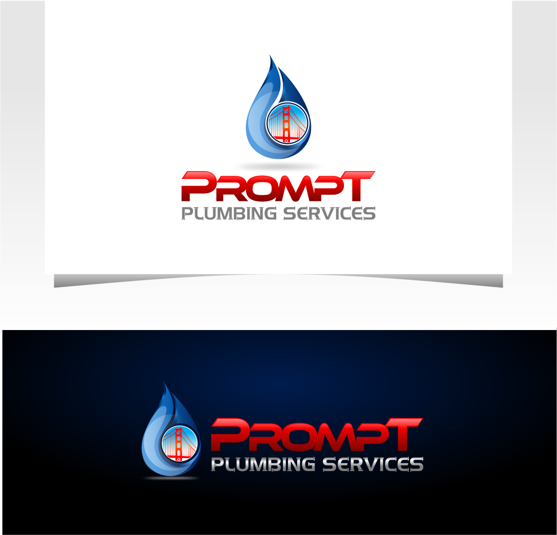 Logo Design by Raymond Garcia - Entry No. 27 in the Logo Design Contest Artistic Logo Design for Prompt Plumbing Services.