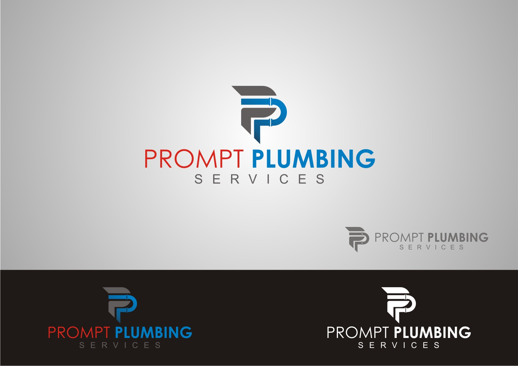 Logo Design by Private User - Entry No. 28 in the Logo Design Contest Artistic Logo Design for Prompt Plumbing Services.