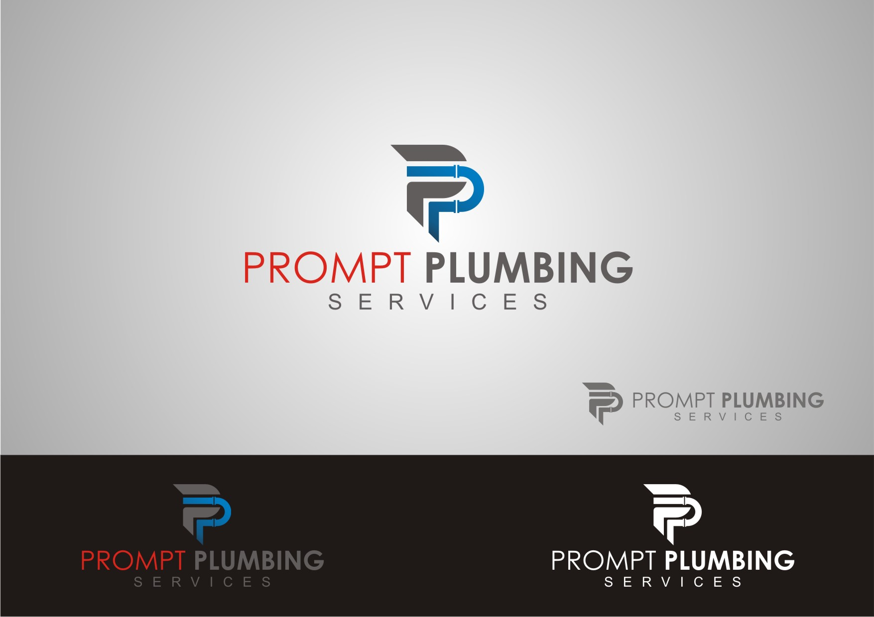 Logo Design by Private User - Entry No. 29 in the Logo Design Contest Artistic Logo Design for Prompt Plumbing Services.