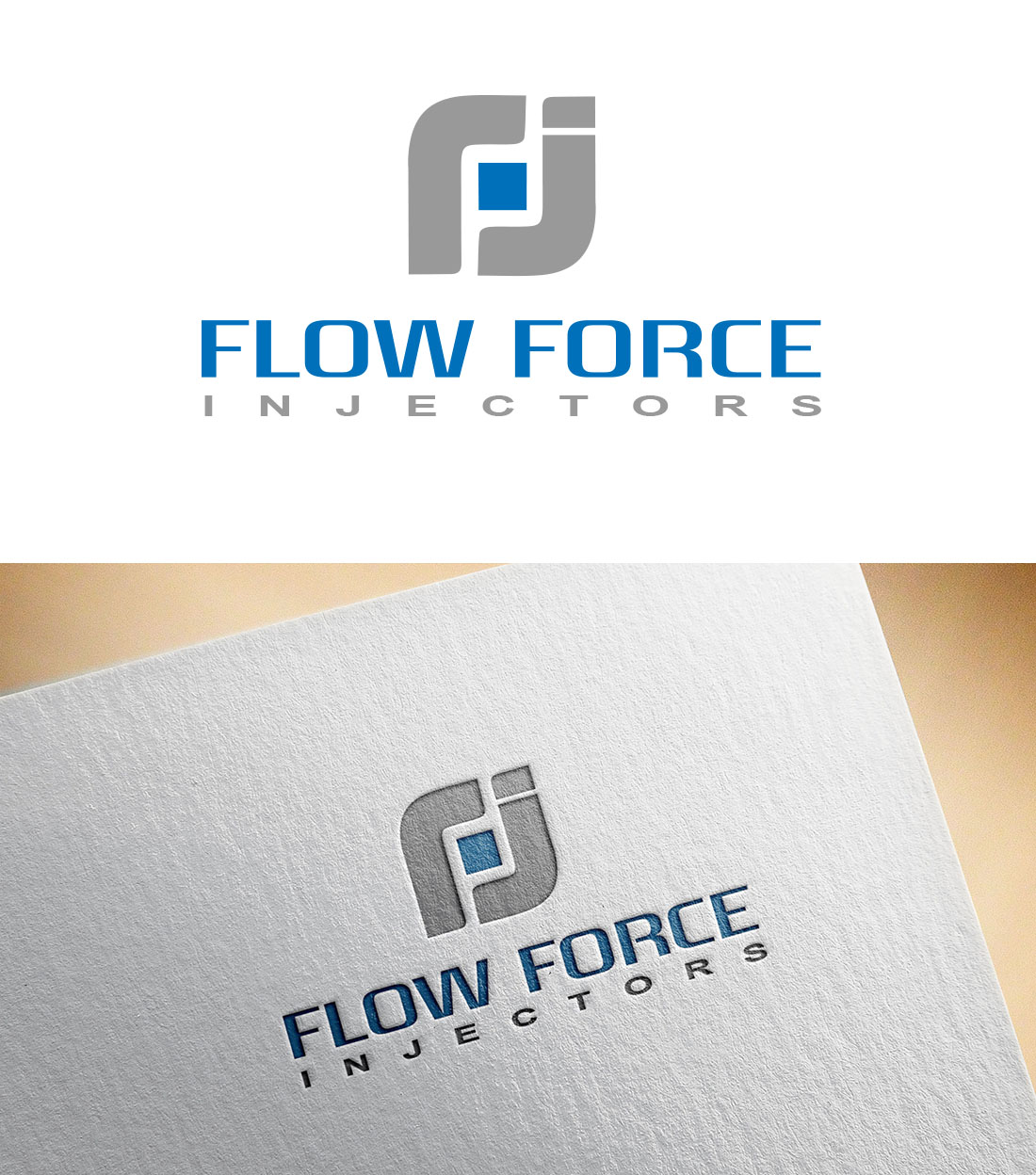 Logo Design by Wilfred Ponseca - Entry No. 18 in the Logo Design Contest Fun Logo Design for Flow Force Injectors.
