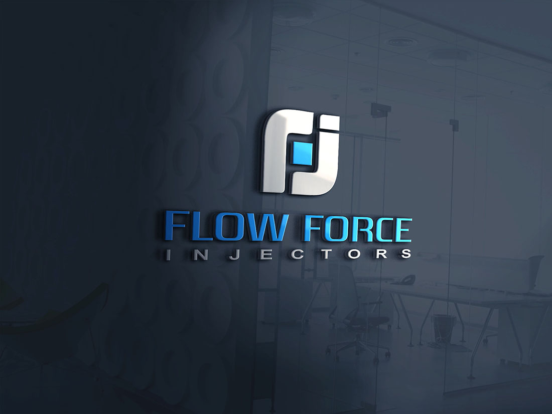 Logo Design by Wilfred Ponseca - Entry No. 19 in the Logo Design Contest Fun Logo Design for Flow Force Injectors.