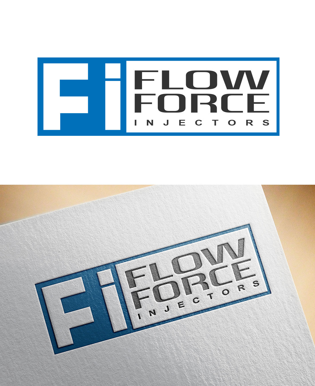 Logo Design by Wilfred Ponseca - Entry No. 20 in the Logo Design Contest Fun Logo Design for Flow Force Injectors.