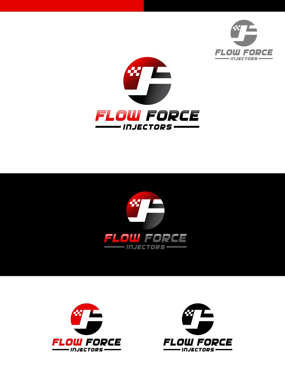 Logo Design by Tauhid Shaikh - Entry No. 27 in the Logo Design Contest Fun Logo Design for Flow Force Injectors.