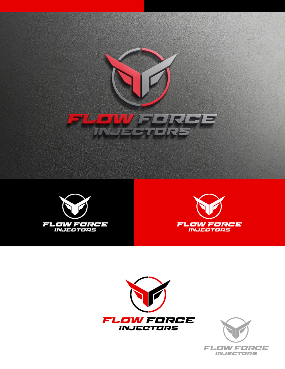 Logo Design by Tauhid Shaikh - Entry No. 28 in the Logo Design Contest Fun Logo Design for Flow Force Injectors.