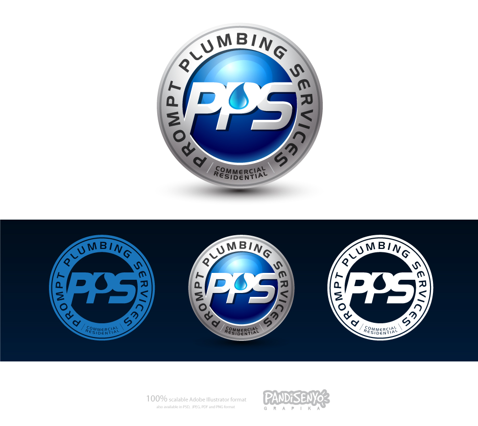 Logo Design by pandisenyo - Entry No. 32 in the Logo Design Contest Artistic Logo Design for Prompt Plumbing Services.
