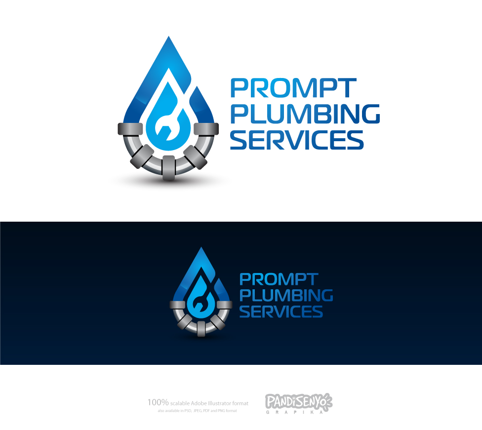 Logo Design by pandisenyo - Entry No. 33 in the Logo Design Contest Artistic Logo Design for Prompt Plumbing Services.