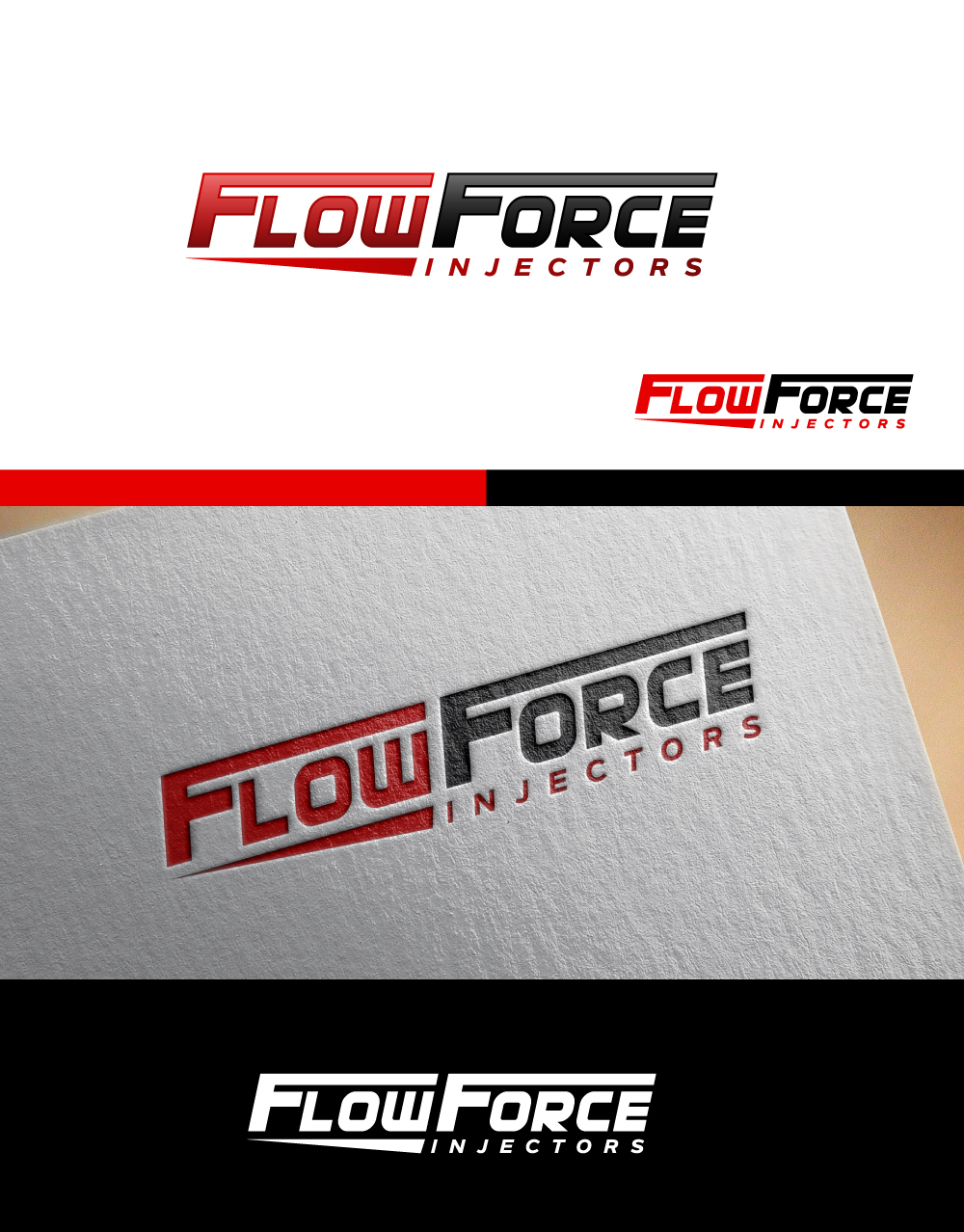 Logo Design by Tauhid Shaikh - Entry No. 35 in the Logo Design Contest Fun Logo Design for Flow Force Injectors.