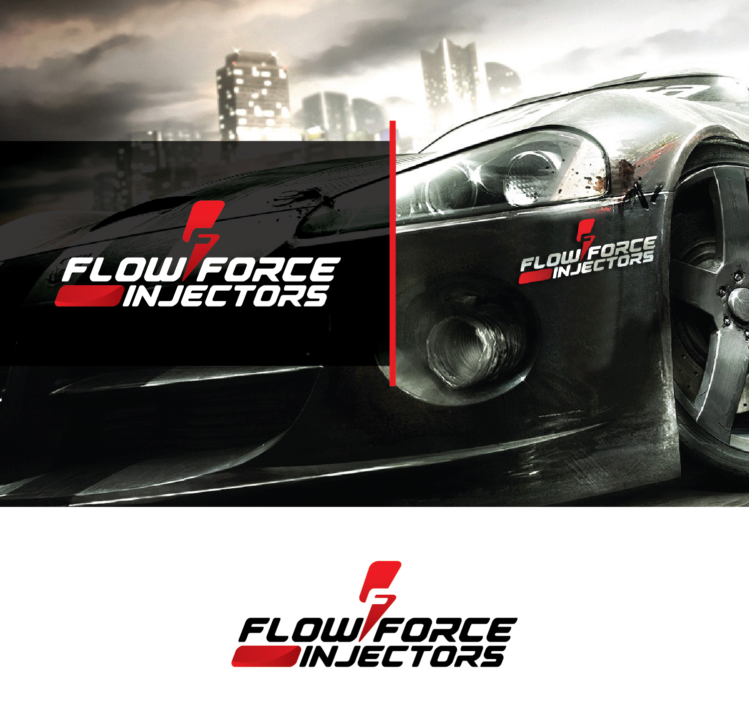 Logo Design by Shahab Uddin - Entry No. 38 in the Logo Design Contest Fun Logo Design for Flow Force Injectors.