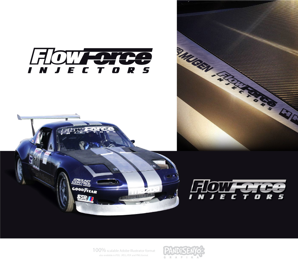 Logo Design by pandisenyo - Entry No. 43 in the Logo Design Contest Fun Logo Design for Flow Force Injectors.