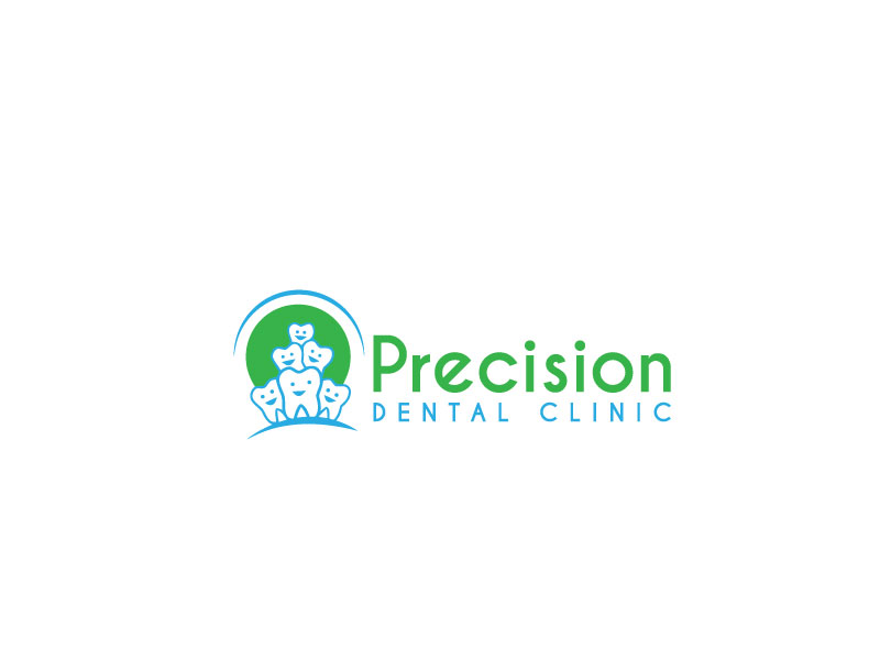Logo Design by Private User - Entry No. 1 in the Logo Design Contest Captivating Logo Design for Precision Dental Clinic.
