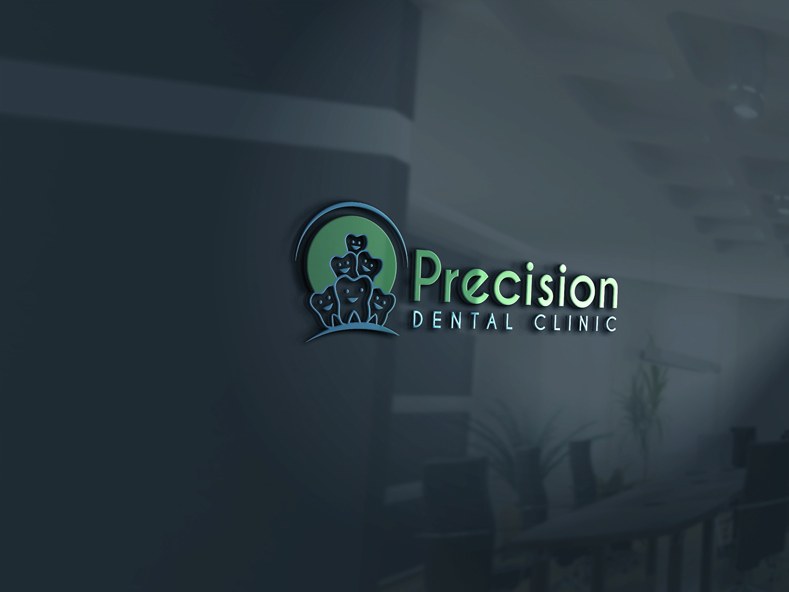 Logo Design by Private User - Entry No. 2 in the Logo Design Contest Captivating Logo Design for Precision Dental Clinic.