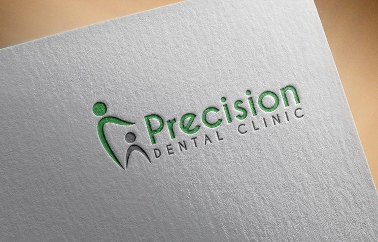 Logo Design by Private User - Entry No. 3 in the Logo Design Contest Captivating Logo Design for Precision Dental Clinic.