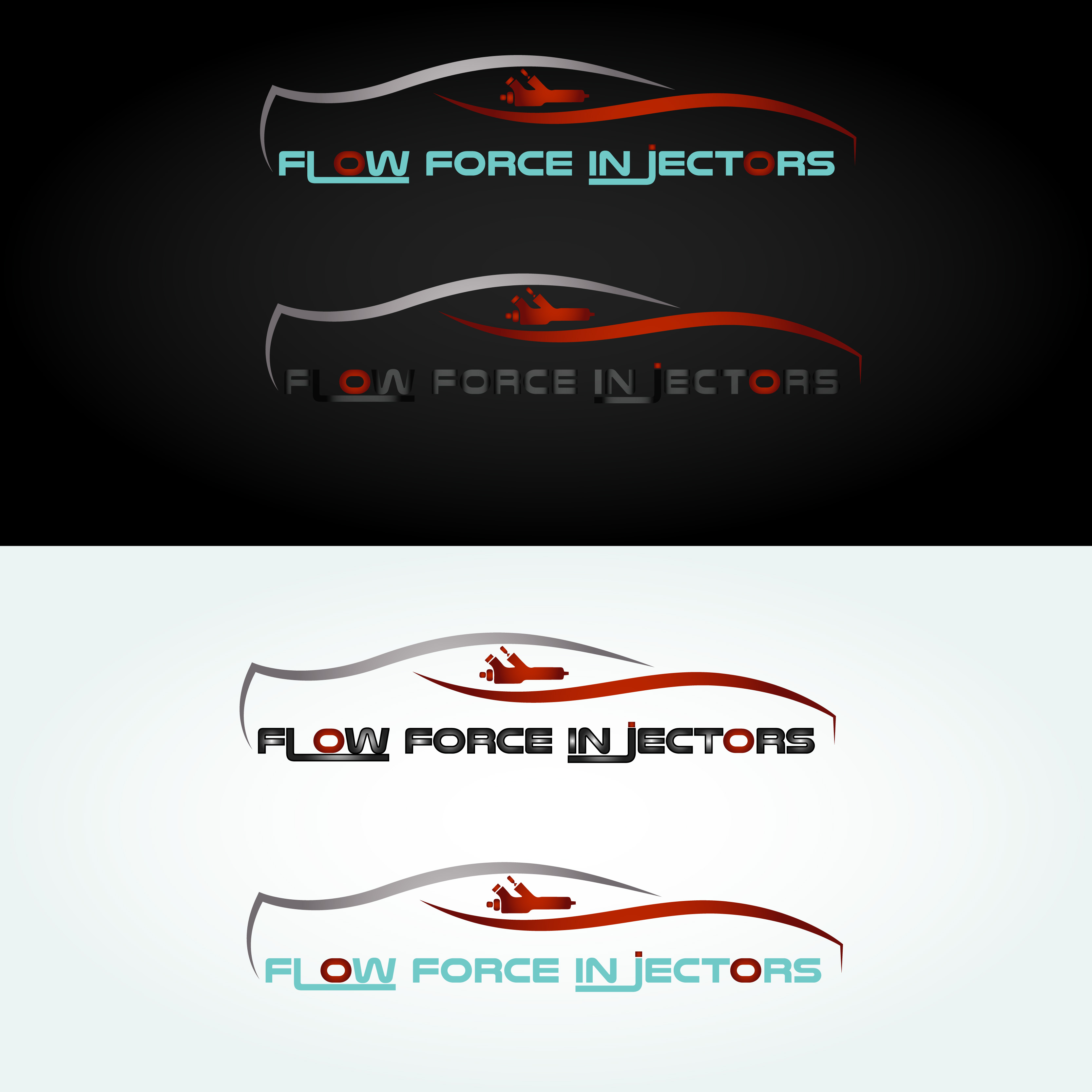 Logo Design by Umair ahmed Iqbal - Entry No. 48 in the Logo Design Contest Fun Logo Design for Flow Force Injectors.