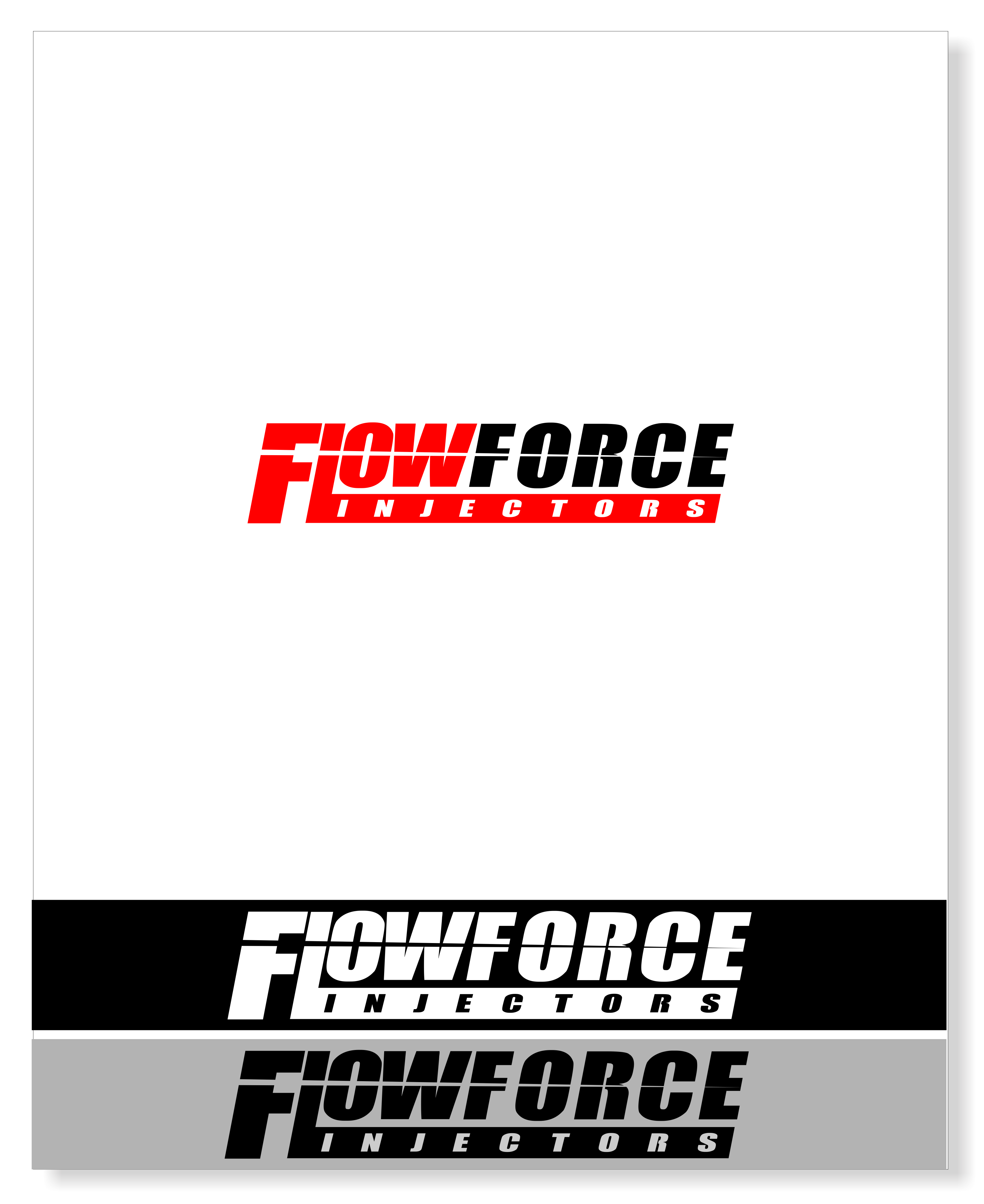 Logo Design by snow - Entry No. 50 in the Logo Design Contest Fun Logo Design for Flow Force Injectors.