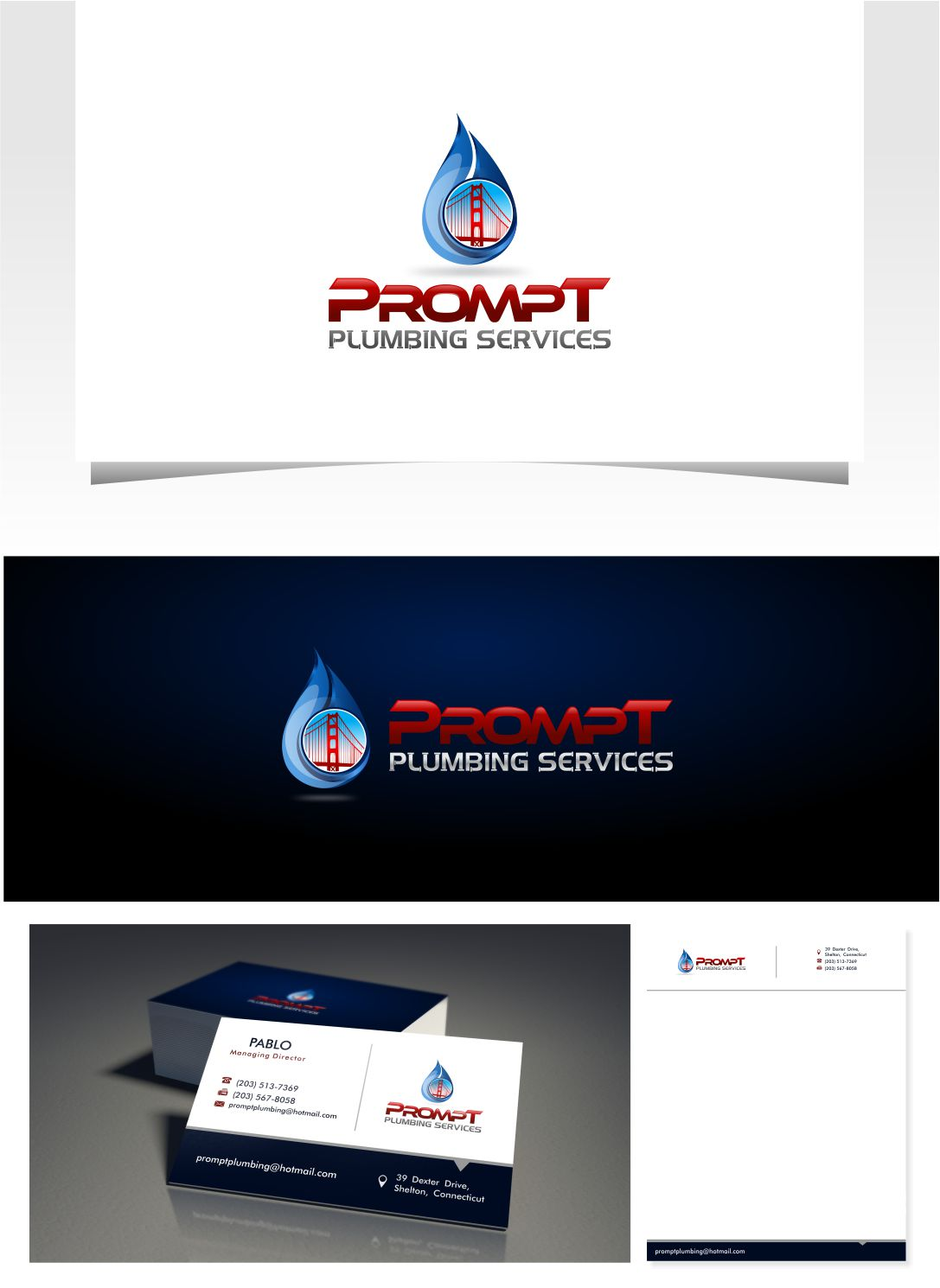 Logo Design by Raymond Garcia - Entry No. 49 in the Logo Design Contest Artistic Logo Design for Prompt Plumbing Services.
