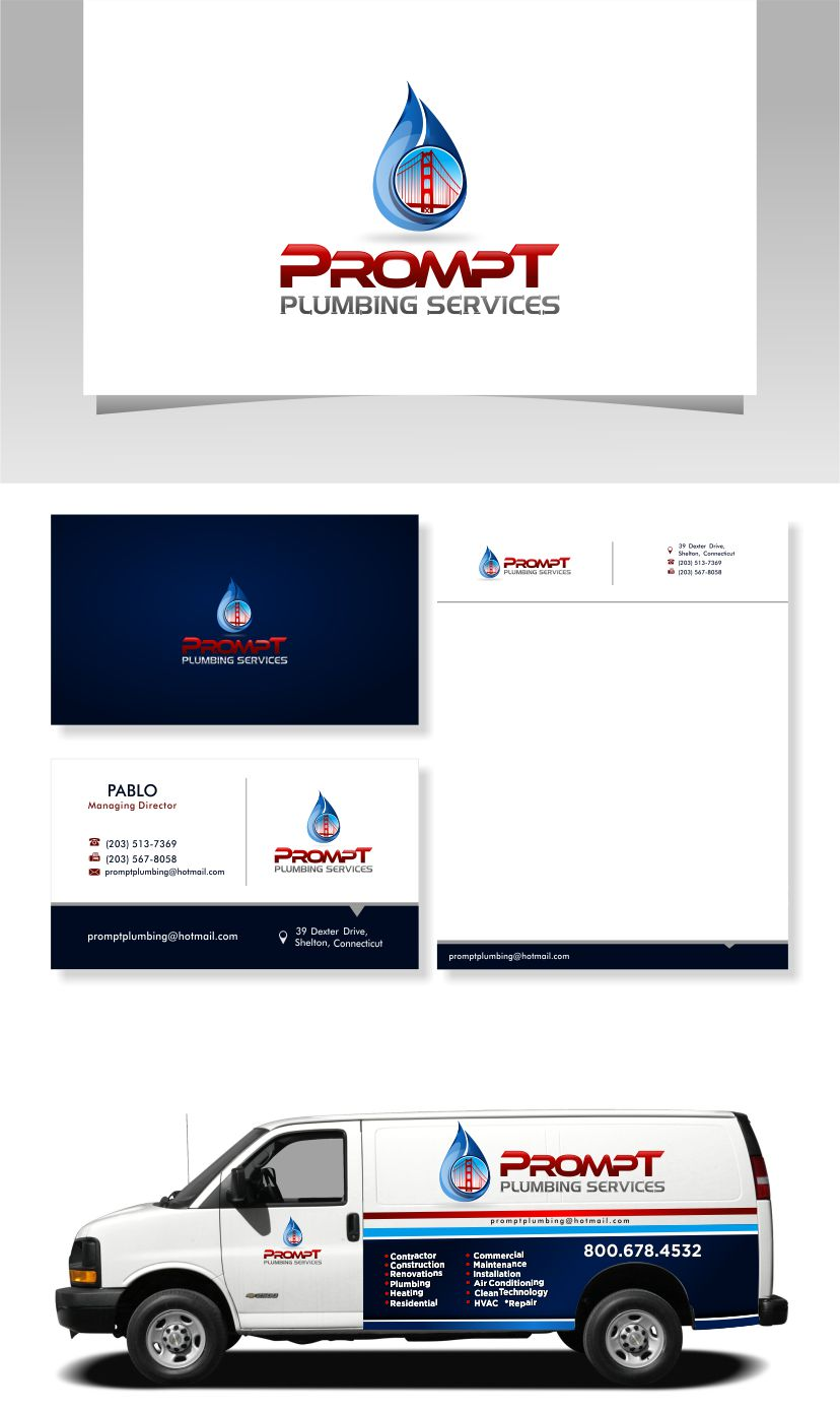 Logo Design by Raymond Garcia - Entry No. 50 in the Logo Design Contest Artistic Logo Design for Prompt Plumbing Services.
