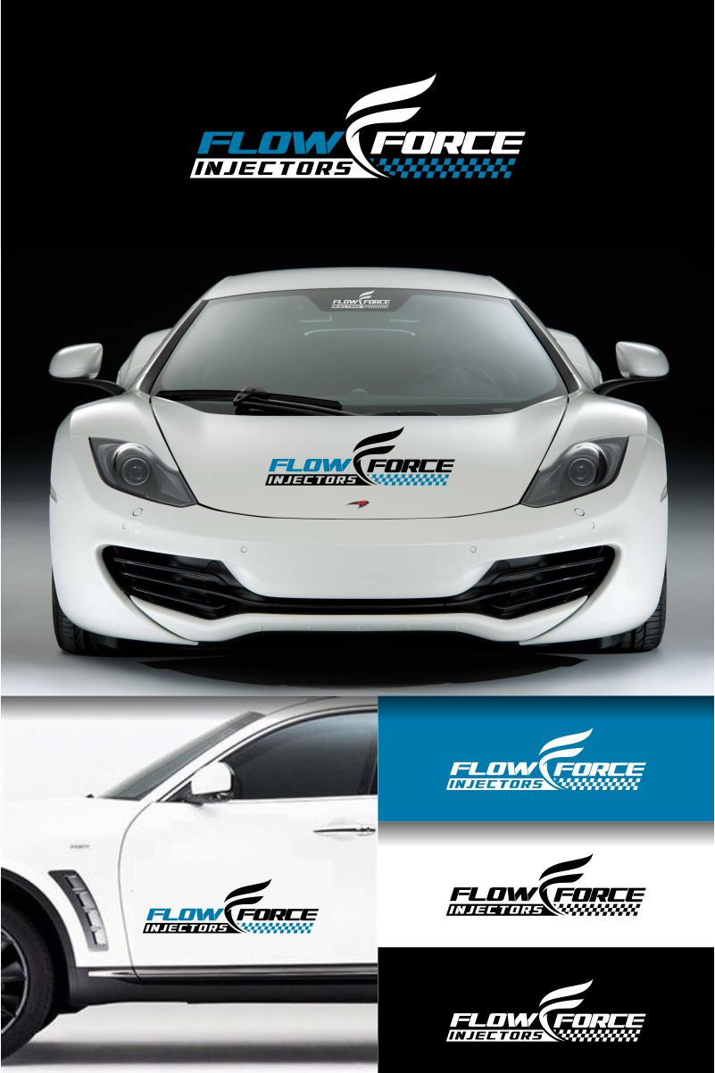 Logo Design by Raymond Garcia - Entry No. 52 in the Logo Design Contest Fun Logo Design for Flow Force Injectors.