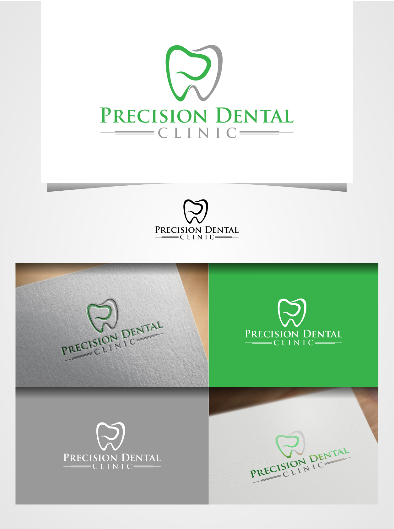 Logo Design by Raymond Garcia - Entry No. 7 in the Logo Design Contest Captivating Logo Design for Precision Dental Clinic.