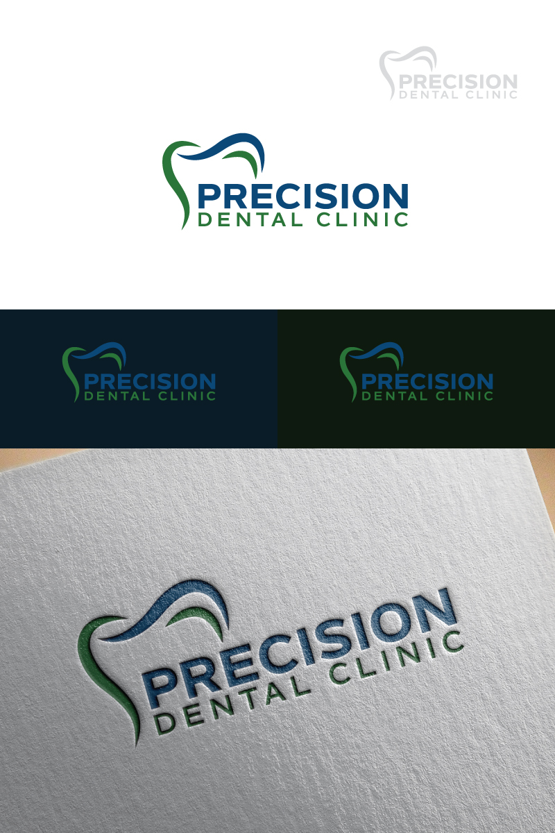 Logo Design by Tauhid Shaikh - Entry No. 9 in the Logo Design Contest Captivating Logo Design for Precision Dental Clinic.
