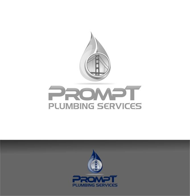 Logo Design by Raymond Garcia - Entry No. 54 in the Logo Design Contest Artistic Logo Design for Prompt Plumbing Services.