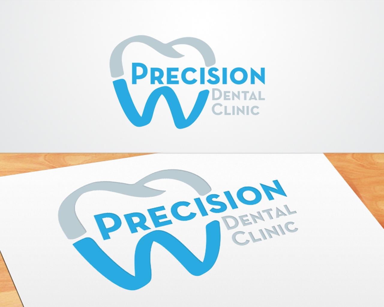 Logo Design by mosby - Entry No. 13 in the Logo Design Contest Captivating Logo Design for Precision Dental Clinic.