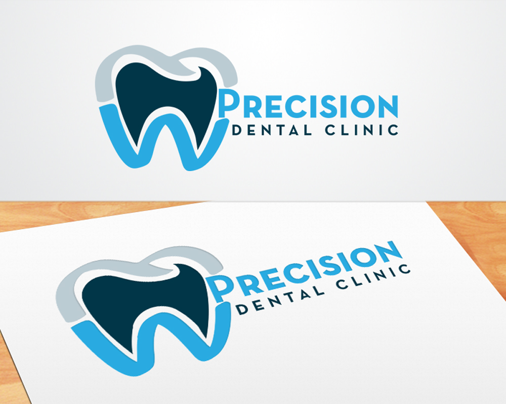 Logo Design by mosby - Entry No. 14 in the Logo Design Contest Captivating Logo Design for Precision Dental Clinic.