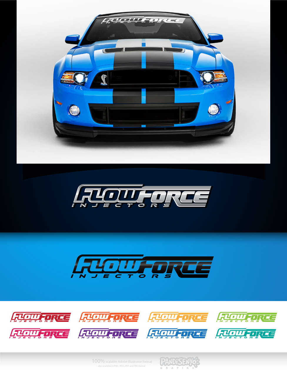Logo Design by pandisenyo - Entry No. 55 in the Logo Design Contest Fun Logo Design for Flow Force Injectors.