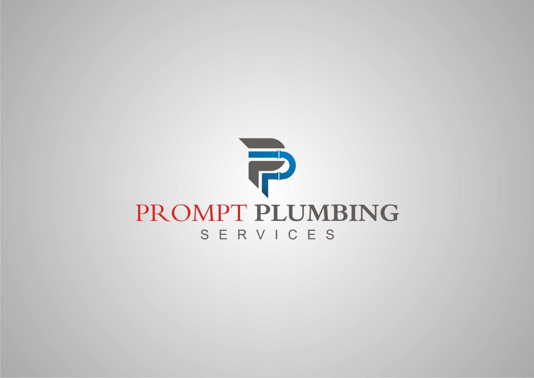 Logo Design by Private User - Entry No. 61 in the Logo Design Contest Artistic Logo Design for Prompt Plumbing Services.