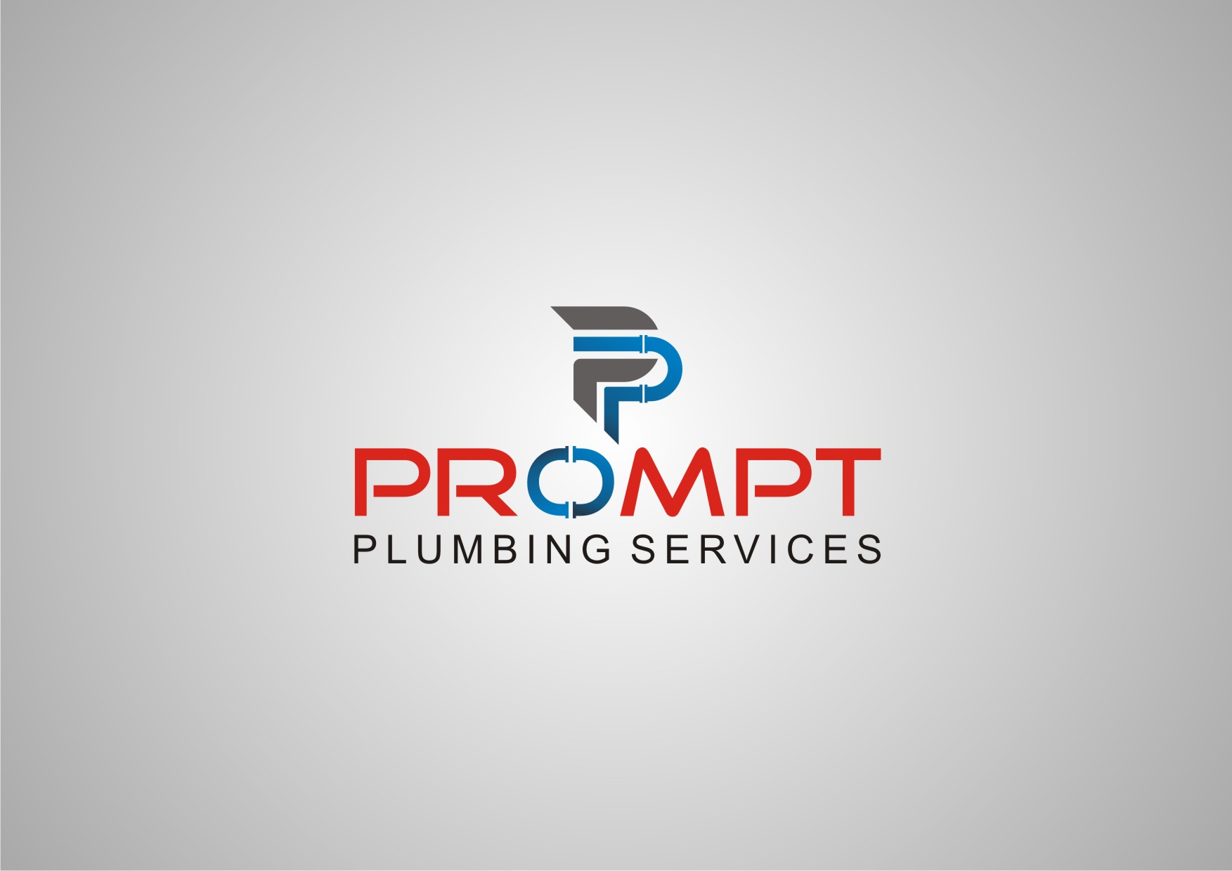 Logo Design by Private User - Entry No. 63 in the Logo Design Contest Artistic Logo Design for Prompt Plumbing Services.