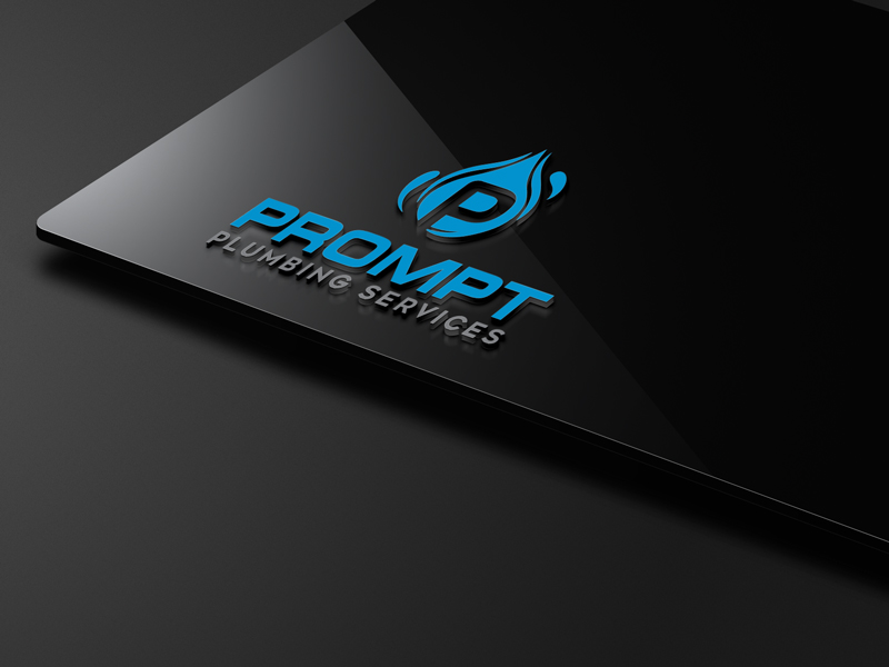 Logo Design by ARABICA Ibrahim - Entry No. 65 in the Logo Design Contest Artistic Logo Design for Prompt Plumbing Services.