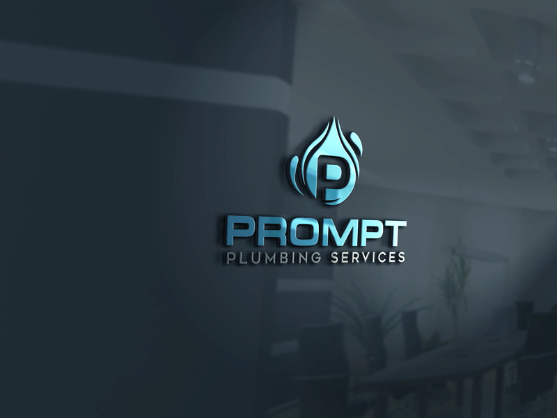 Logo Design by ARABICA Ibrahim - Entry No. 67 in the Logo Design Contest Artistic Logo Design for Prompt Plumbing Services.
